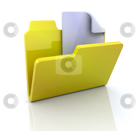 New folder icon stock photo, 3D icon for new folder by Kirsty Pargeter