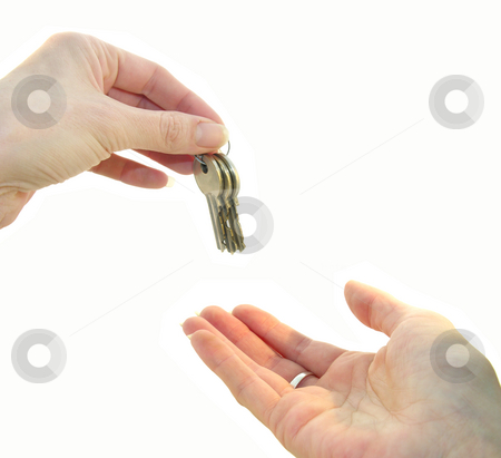 Handing over the keys stock photo,  by Kirsty Pargeter