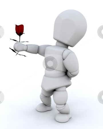 Giving a rose stock photo, A man giving a rose by Kirsty Pargeter