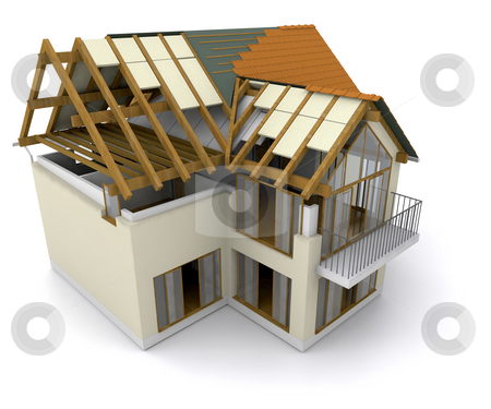 House under construction stock photo, Modern house under construction by Kirsty Pargeter