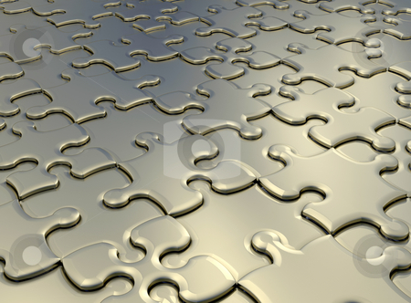 Jigsaw puzzle stock photo, 3D render of a jigsaw puzzle background by Kirsty Pargeter