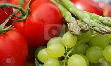 Fruit and vegetables stock photo, Close up shot of fruit and vegetables by Kirsty Pargeter