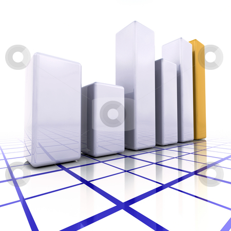 3D graph stock photo, 3D render of a bar chart by Kirsty Pargeter