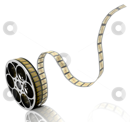 Film reel stock photo, 3D render of a film reel by Kirsty Pargeter