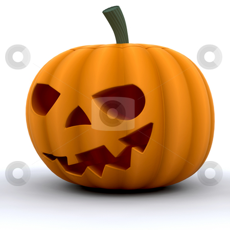 Pumpkin stock photo, 3D render of a pumpkin by Kirsty Pargeter