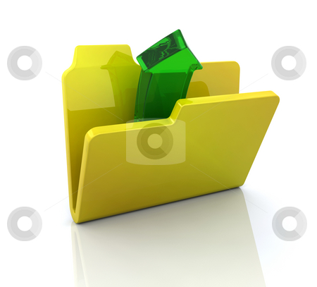 Computer icon for open folder stock photo, 3D computer icon for open folder by Kirsty Pargeter