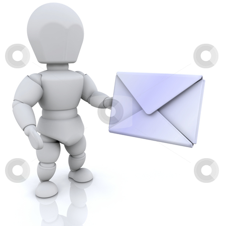 You've got mail stock photo, 3D render of someone with mail by Kirsty Pargeter