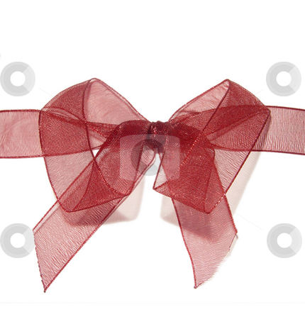 Red Bow on White Background stock photo,  by Kirsty Pargeter