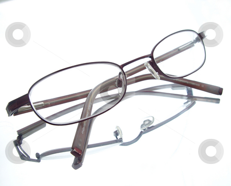 Eyeglasses on white stock photo,  by Kirsty Pargeter