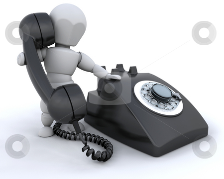 On the telephone stock photo, Someone talking on a retro styled telephone by Kirsty Pargeter