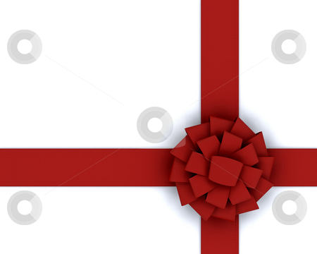 Red ribbon stock photo, Red ribbon on a white background by Kirsty Pargeter
