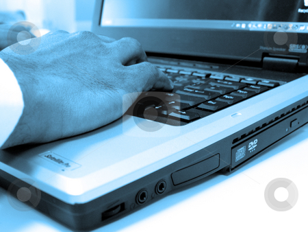 Hands on Laptop Keyboard stock photo,  by Kirsty Pargeter