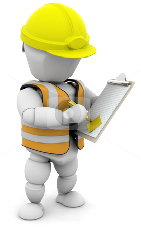 Person with clipboard stock photo, Someone checking a clipboard by Kirsty Pargeter