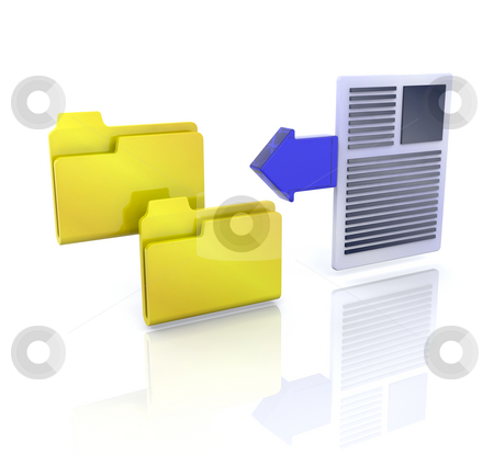 Copy files icon stock photo, 3D computer icon for copy files by Kirsty Pargeter