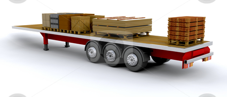 Heavy goods vehicle stock photo, Heavy goods vehicle with load by Kirsty Pargeter