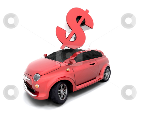Dollar crash stock photo, Dollar sign crashing onto a car by Kirsty Pargeter