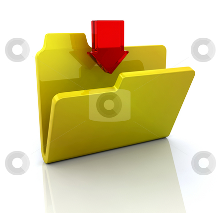 Download icon stock photo, 3D icon for download by Kirsty Pargeter