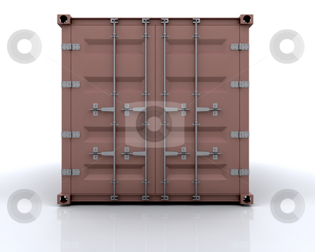 Freight container stock photo, 3D render of a freight container by Kirsty Pargeter
