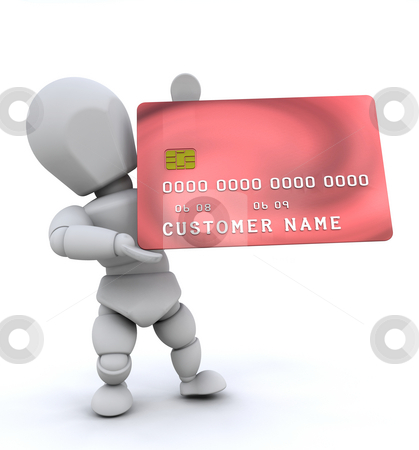 Person with credit card stock photo, Someone holding a generic credit card by Kirsty Pargeter