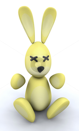 Easter bunny stock photo, 3D render of an Easter bunny by Kirsty Pargeter