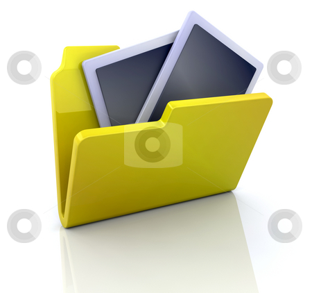My pictures icon stock photo, 3D computer icon for my pictures by Kirsty Pargeter