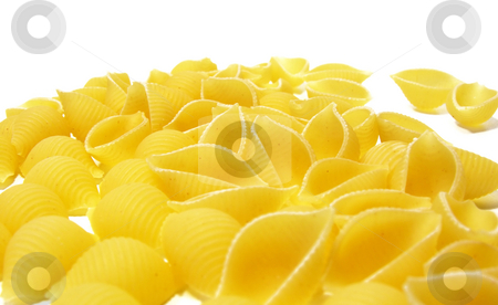 Pasta Shells on white stock photo,  by Kirsty Pargeter