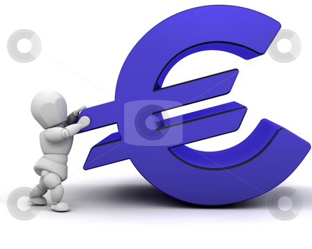Financial pressure stock photo, Someone holding up a Euro sign by Kirsty Pargeter
