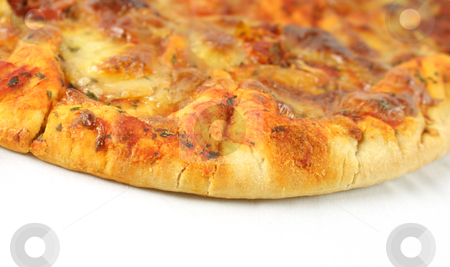 Cheese and tomato pizza stock photo, Cheese and tomato pizza by Kirsty Pargeter