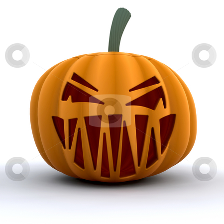 Scary pumpkin stock photo, Scary Halloween pumpkin by Kirsty Pargeter