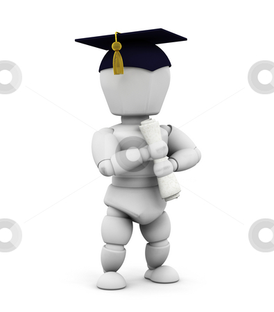 Graduate stock photo, 3D render of a graduate by Kirsty Pargeter