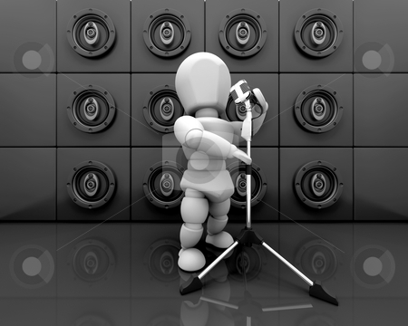 Person singing stock photo, 3D render of a person singing by Kirsty Pargeter