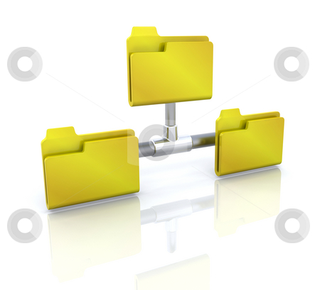 Computer icon for network folder stock photo, 3D computer icon for network folder by Kirsty Pargeter