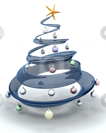 Christmas tree stock photo, 3D render of a glass Christmas tree by Kirsty Pargeter
