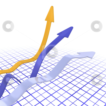 Rising profits stock photo, 3D render of a chart depicting rising profits by Kirsty Pargeter