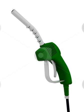 Fuel pump nozzle stock photo, 3D render of a fuel pump nozzle by Kirsty Pargeter