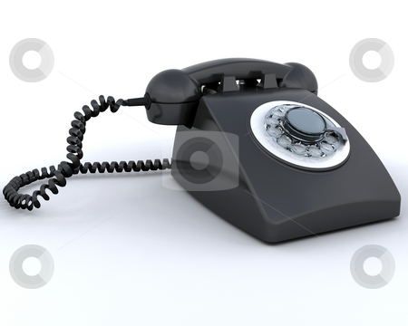 Retro telephone stock photo, Retro styled telephone by Kirsty Pargeter