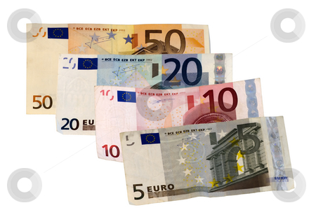 Money stock photo, Banknotes of 5,10,20,50 euros by Fabio Alcini