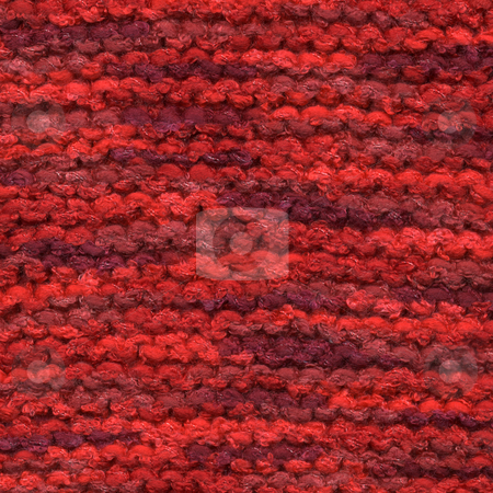 Red colors knitted wool line close up. stock photo, Red colors knitted wool line close up. by Stephen Rees