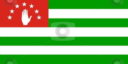 Abkhazia Flag stock photo, This is Abkhazia flag illustration computer generated. by Tudor Antonel adrian