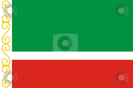 Chechen Republic stock photo, This is Chechen Republic flag illustration computer generated. by Tudor Antonel adrian