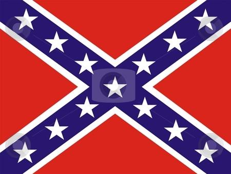 Confederate Flag stock photo, 2D illustration of a american Confederate Flag by Tudor Antonel adrian