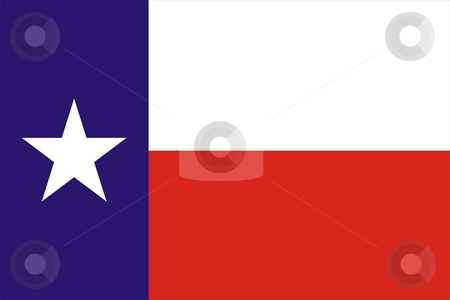 Texas flag stock photo, 2D illustration of Texas flag american state vector by Tudor Antonel adrian