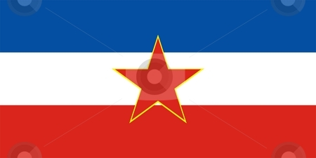 Flag Of Yugoslavia stock photo, This is Yugoslavia flag illustration computer generated. by Tudor Antonel adrian
