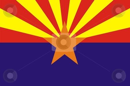 Arizona Flag stock photo, Very large 2d illustration of Arizona flag by Tudor Antonel adrian