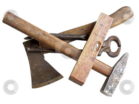 Carpenter's instrument stock photo, Some carpenter's instruments by Sergej Razvodovskij