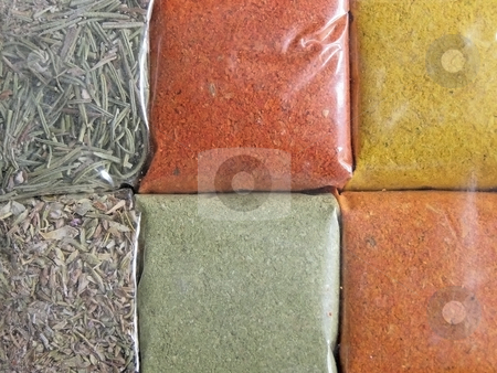 Spices background stock photo, Background from different spices by Sergej Razvodovskij