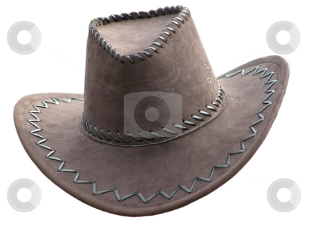 Cowboy's hat over white stock photo, Cowboy's hat against the white background by Sergej Razvodovskij