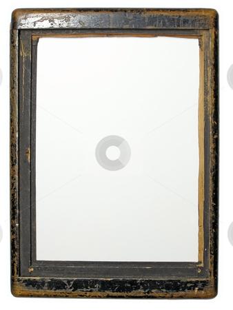 Old wood frame stock photo, Retro wood frame of old camera by Sergej Razvodovskij
