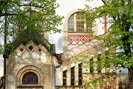 Facade of a historical building stock photo, Detail of facade on a historical building by Juraj Kovacik