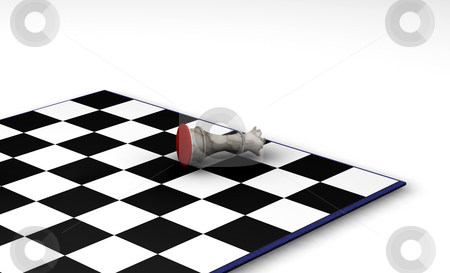 Defeated stock photo, 3D render of a fallen chess piece by Kirsty Pargeter